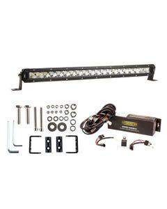 """Kings 20"""" LETHAL MKIII Slim Line LED Light Bar + Bar Wiring Harness + Sliding Brackets for Slim Line Light Bars (Pair)"""