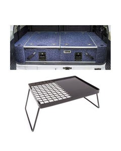 Titan Rear Drawer with Wings suitable for Nissan Patrol GQ+ Kings Essential BBQ Plate