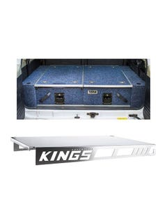 Titan Rear Drawer with Wings suitable for Nissan Patrol ST-L, TI + Drawer Table suitable for 1070mm Titan Drawers
