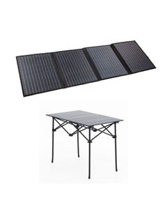 Adventure Kings 120W Portable Solar Blanket + Portable Alloy Camping Table