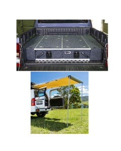 1300mm Titan Drawer System Suitable for Utes + Wings For 1300mm Titan Drawers + Rear Awning - 1.4 x 2m