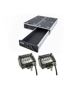 "1300mm Titan Drawer System Suitable for Utes + 4"" LED Light Bar"