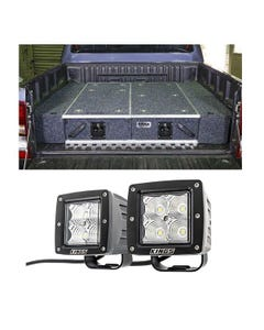 """1300mm Titan Drawer System Suitable for Utes + Wings For 1300mm Titan Drawers + 3"""" LED Work Light - Pair"""