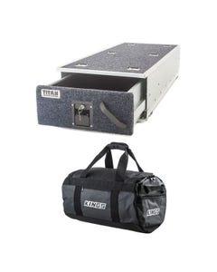 Titan Single Ute Drawer 1300mm + 40L Large PVC Duffle Bag