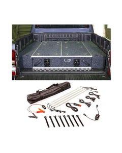 1300mm Titan Drawer System Suitable for Utes + Wings For 1300mm Titan Drawers + Illuminator 4 Bar Camp Light Kit