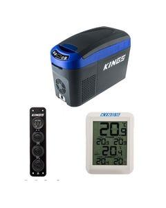 15L Centre Console Fridge/Freezer + Wireless Fridge Thermometer + 12V Accessory Panel