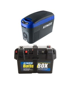 Kings 15L Centre Console Fridge/Freezer + Battery Box