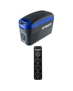 Adventure Kings 15L Centre Console Fridge/Freezer + 12V Accessory Panel