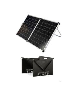 Kings Premium 160w Solar Panel with MPPT Regulator + Kings Portable Steel Fire Pit