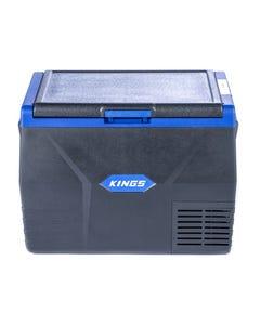 Kings 65L Portable Fridge/Freezer | 12v/24v/240v | -18c to +10c | Reversible Lid