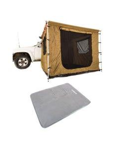 Adventure Kings 2.5x2.5m Awning Tent + Self Inflating Foam Mattress - Queen