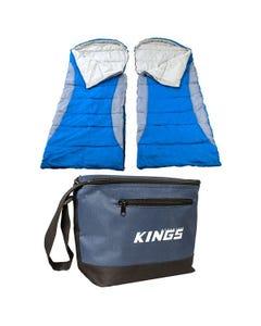2x Adventure Kings - Hooded Sleeping Bag + Cooler Bag