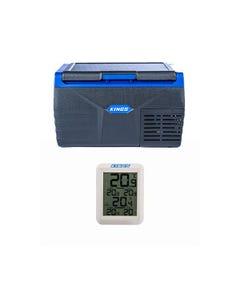 Kings 20L Fridge / Freezer + Adventure Kings Wireless Fridge Thermometer