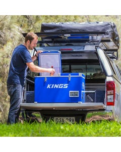 Kings 70L Portable Fridge & Freezer   Dual Zone   SECOP Compressor   12v/24v/240v   -18c to +10c