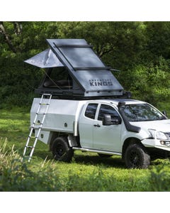 Grand Tourer MKII Aluminium Rooftop Tent | Redesigned Roof Bracing Kit | Incl Storage Pocket | 75mm Mattress