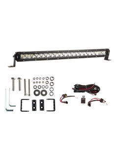 """Kings 20"""" LETHAL MKIII Slim Line LED Light Bar + Wiring Harness + Sliding Brackets for Slim Line Light Bars (Pair)"""