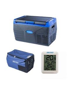 Kings 20L Fridge / Freezer + 20L Fridge Cover + Wireless Fridge Thermometer
