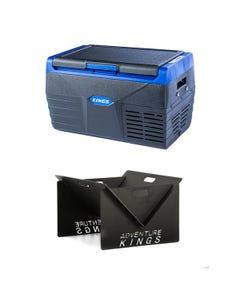 Kings 20L Fridge / Freezer + Portable Steel Fire Pit