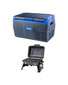 Kings 20L Fridge / Freezer + Voyager Portable Gas BBQ