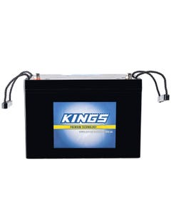 Kings 98Ah 12v AGM Deep Cycle Battery | 5x Faster Recharging | Maintenance-Free | 12 Month Warranty
