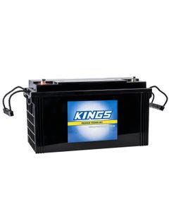 Kings 138Ah 12v AGM Deep-Cycle Battery | 5x Faster Recharging | Maintenance-Free | 12 Month Warranty