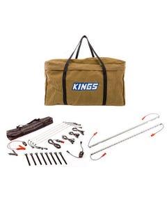 Adventure Kings Illuminator 4 Bar Camp Light Kit + Orange LED Camp Light Extension Kit + Adventure Kings BBQ Canvas Bag