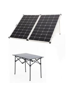 Adventure Kings 250w Solar Panel + Portable Alloy Camping Table