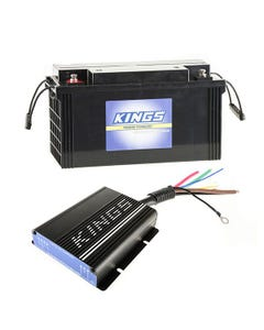 Adventure Kings 25AMP DC-DC Charger (with MPPT SOLAR) + 138Ah AGM Deep-Cycle Battery