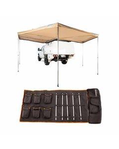 King Wing Deluxe 270° Wrap-Around Awning + 5 Bar Camp Light Kit