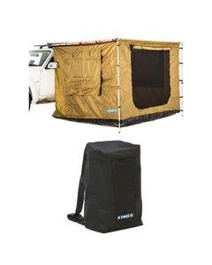 Adventure Kings 2.5 x 2.5m Awning Tent + Adventure Kings Dirty Gear Bag
