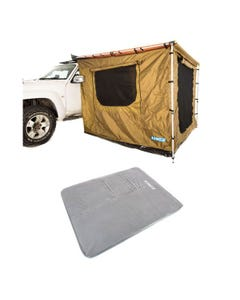 Adventure Kings 2x2.5m Awning Tent + Self Inflating Foam Mattress - Queen