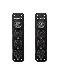2x Adventure Kings 12V Accessory Panel