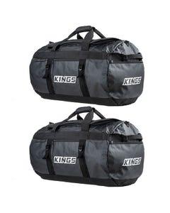 2x Kings 80L Extra-Large PVC Duffle Bag