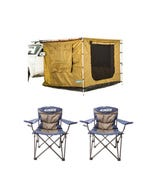 Adventure Kings Awning Tent (suits 2m x 3m Awning) + 2x Throne Camping Chair