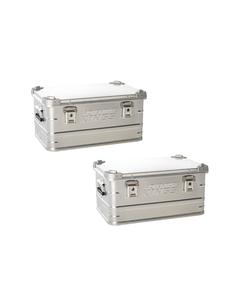 2x 50L Aluminium Storage Box
