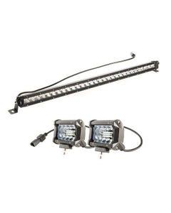 """Kings 30"""" LETHAL MKIII Slim Line LED Light Bar + 4"""" LED Light Bar"""