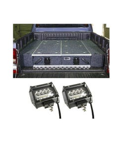 """1300mm Titan Drawer System Suitable for Utes + Wings For 1300mm Titan Drawers + 4"""" LED Light Bar"""
