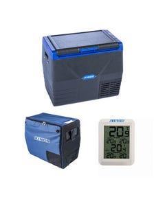 Kings 35L Fridge / Freezer + 35L Fridge Cover +  Wireless Fridge Thermometer