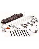 Illuminator 4 Bar Camp Light Kit | LED dimmer | Alligator clips & cig socket | Adventure Kings