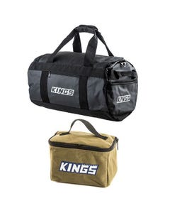 Kings 40L Large PVC Duffle Bag + Toiletry Canvas Bag