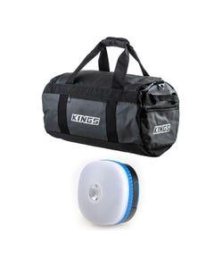 Kings 40L Large PVC Duffle Bag + Mini Lantern