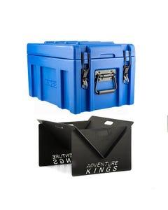 Adventure Kings 45L Storage Box + Portable Steel Fire Pit