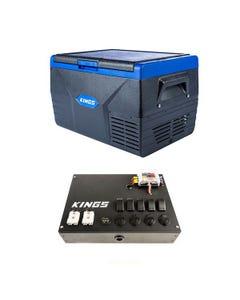 Kings 50L Fridge / Freezer + 12V Control Box