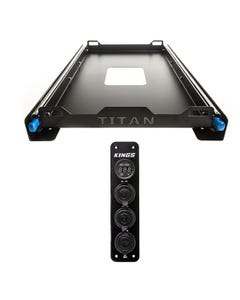 Titan Small Fridge Slide + Adventure Kings 12V Accessory Panel