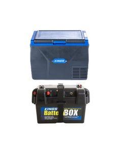 Kings 65L Fridge / Freezer + Battery Box
