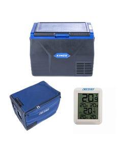 Kings 65L Fridge / Freezer + 65L Fridge Cover + Wireless Fridge Thermometer