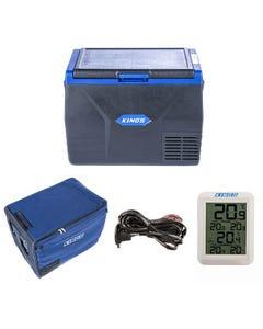Kings 65L Fridge / Freezer + 65L  Fridge Cover + Adventure Kings 12V Fridge Wiring Kit + Wireless Fridge Thermometer