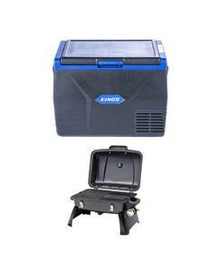 Kings 65L Fridge / Freezer + Gasmate Voyager Portable BBQ