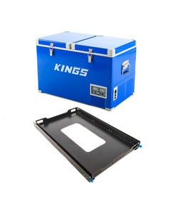 Adventure Kings 70L Camping Fridge/Freezer + Titan Large Fridge Slide