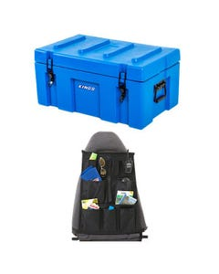 Adventure Kings 78L Tough Tool Box + Adventure Kings Car Seat Organiser